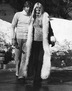 Gunter Sachs and Mirja Larsson. Marriage with Brigitte Bardot lasted only three years. Shortly after the divorce Gunter Sach smarried the model Mirja Larsson. With this long-haired blonde he remained together until his death. Two sons got the couple.