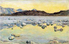 Maggia delta before sunrise, 1893 - Ferdinand Hodler