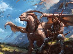 Dreaming of Dragons, Manuel Castanon on ArtStation at https://www.artstation.com/artwork/m8NqY