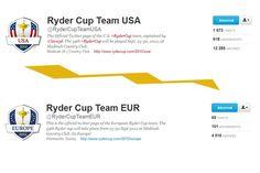 Soutenez l'équipe européenne de la Ryder Cup sur twitter ! Follow Ryder Cup Team Europe on twitter !