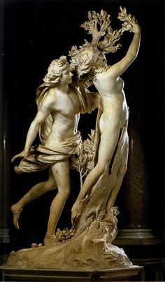 Apollo and Daphne is a life-sized Baroque marble sculpture by Italian artist Gian Lorenzo Bernini executed 1622–25. Housed in the Galleria Borghese in Rome, the work depicts the climax of the story of Daphne and Phoebus in Ovid's Metamorphoses.    - I love this so much