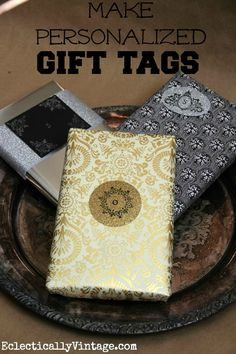 How to make gift tags - personalize for every member of your family!  eclecticallyvintage.com