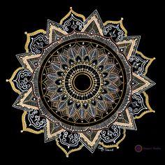 Mandala in golds and whites corak cantik in 2019 мандалы, уз Mandala Artwork, Mandalas Painting, Mandalas Drawing, Dot Painting, Mandala Doodle, Mandala Dots, Mandala Pattern, Flower Mandala, Croquis Mandala