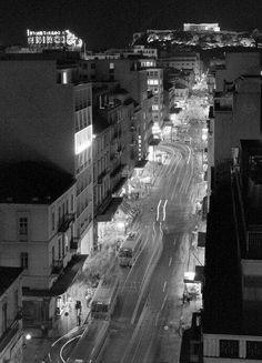 Πατησίων 1960 My Athens, Athens Greece, Old Pictures, Old Photos, Benaki Museum, Neon Noir, Cityscape Photography, Old City, Rare Photos