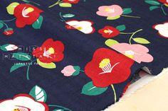 Hey, I found this really awesome Etsy listing at https://www.etsy.com/listing/598684839/japanese-fabric-kokka-tsubaki-dobby-navy