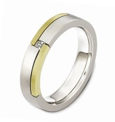 Gents Diamond Set Dora Wedding Ring available in 9ct or 18ct Yellow or White Golds and a combination - 2550