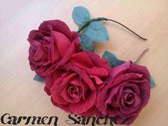 Mi corona de flores flamenca de Carmen Sanchez