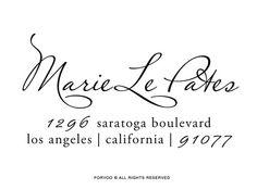 Pretty font & design for custom stamp