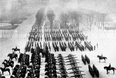 German victory parade in Paris. Before they entered, National Guards removed large numbers of cannons away from the Germans' path and store them in 'safe' districts. This was to be one of the factors leading to the Paris Commune. The killing of 2 French generals by soldiers of the Communes National Guard and the refusal to accept the authority of the French government led to harsh suppression by the regular French army in 'the Bloody Week' beginning 21 May 1871.  - FrancoPrussianWar.com