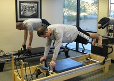 Pilates Pal Jason Brummett on the reformer.
