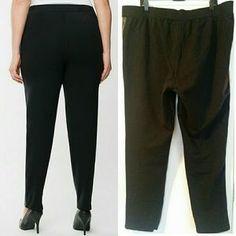Lane Bryant Pants & Jumpsuits | Lane Bryant 22 Black Faux Leather Ponte Pants | Poshmark Ponte Pants, Harem Pants, Lane Bryant, Black Faux Leather, Skinny Pants, Cotton Spandex, Must Haves, Elastic Waist, Sexy