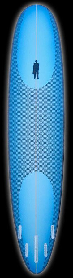 Performance Longboard | Titanium II Black & Blue