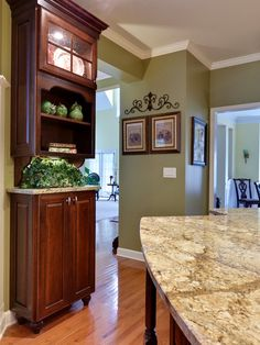 Traditional Kitchen Lite Green Walls Design, Pictures, Remodel, Decor and Ideas - page 3