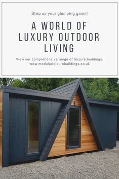 The Pembroke glamping pod is full of charm. The SIP construction ensures the pods are thermally efficient and fully insulated perfect for your holiday business all year round. Eco Buildings, Garden Buildings, Small Modern Cabin, Modular Cabins, Triangle House, Yanko Design, Luxury Holidays, Glamping, Outdoor Living