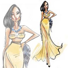 New Fashion Ilustration Vogue Sketches Disney Divas Ideas Disney Princess Fashion, Disney Princess Art, Disney Style, Disney Art, Arte Fashion, New Fashion, Trendy Fashion, High Fashion, Disney Mode