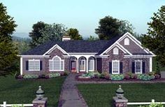 House Plan 74811 | Craftsman Ranch Plan with 2000 Sq. Ft., 4 Bedrooms, 4 Bathrooms, 3 Car Garage at family home plans