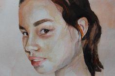 #art #artist #portrait #face #lips #girl #watercolors #color #paint #painting #instaart #water #sketch #акварель #портрет #живопись #эскиз
