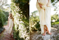 Wedding dress: Carmen Marc Valvo - Rustic wedding at Ash Lawn, Photography by Eric Kelley