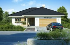 DOM.PL™ - Projekt domu FA Maja CE - DOM GC5-65 - gotowy koszt budowy Home Fashion, House Plans, Garage Doors, Flooring, Architecture, House Styles, Outdoor Decor, Inspiration, Home Decor