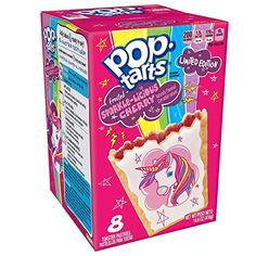 [gallery] Add some magic to your morning with Pop-Tarts Frosted Sparkle-Licious Cherry Toaster Pastries. Featuring a beautiful unicorn with stars and a rain Pop Tart Flavors, Oreo Flavors, Gum Flavors, Funny Food Memes, Food Humor, Biscuits, Strawberry Milkshake, Weird Food, After School Snacks