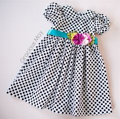 Adorable dress from Gracious May- this would look cute on Harper for her 1 year photo shoot.