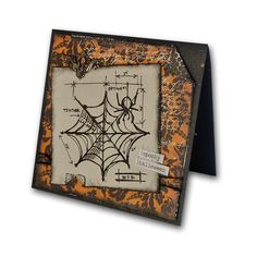 Halloween Blueprint Spider Web Card