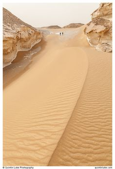 Trekking above a large sand dune in the White Desert), Egypt