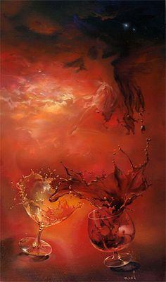 By Roman Velichko Roman, Fantasy Paintings, Art Clipart, Paint Shop, Textile Patterns, Pattern Wallpaper, Surrealism, Backdrops, Digital Art