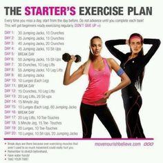 Excersise starter plan.