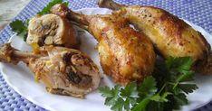 Na dzisiejszy obiad polecam pyszne faszerowane udka z kurczaka. Można je podawać z ziemniakami lub ryżem.       SKŁADNIKI:   3 udka z kurcz...