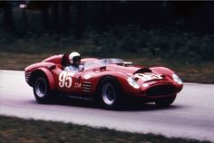Ferrari 250 TR59/60 Fantuzzi Spyder raced by George Reed, June '64 at Road America.  (found)