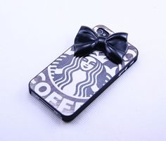 Iphone 4 4s case cover,Black  Bowknot    iphone 4 4s,Charm  iphone 4 4s on Etsy, $12.99