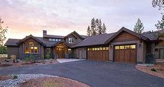 Architectural Designs Mountain Living House Plan 54220HU gives you 3-4 beds and 2,100+ - 2,500+ sq. ft. depending on if you build the bonus second floor or not. Ready when you are. Where do YOU want to build?
