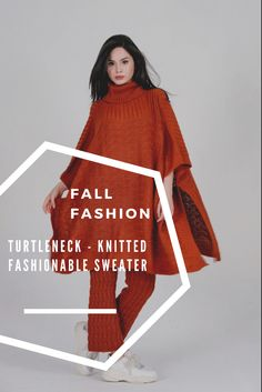 Turtleneck - Knitted Fashionable Sweater