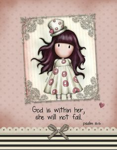 Psalm God is within her, she will not fail Psalm 16, Fails, Bible Verses, Delicate, Graphic Design, God, Cute, Dios, Make Mistakes