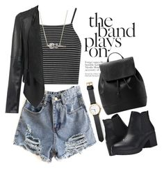 """""""The band plays on"""" by ajla-p ❤ liked on Polyvore featuring Topshop, Marc by Marc Jacobs, MANGO and Steve Madden"""