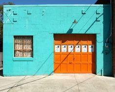 #turquoise & #orange #doors