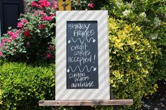 Distressed Wood Chalk Board Barnwood / Linen by ShirleyFrames, $75.00