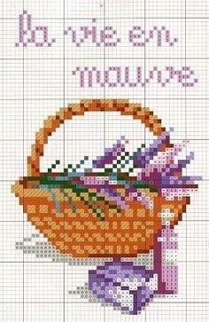cross stitch lavender