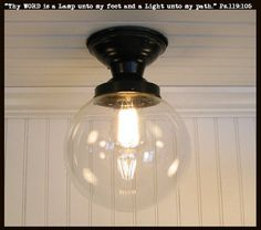 Biddeford. SEMI-FLUSH Glass Ceiling Light Fixture