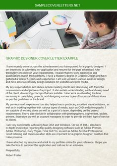 Graphic Designer Cover Letter Graphic Designer Cover Letter Example  Graphic Designer Cover .