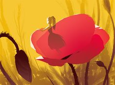 #TUMBELINA in a poppy, for #sketch_dailies @Sketch_Dailies