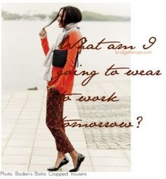 Tips for wearing ankle pants to the office.  via @Bridgette Raes