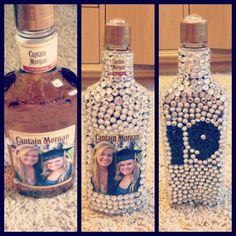 rhinestone alcohol bottle--finally pinning something I actually made. happy birthday Alison!