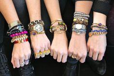 layered bracelets galore
