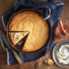 "Ben Mims' Perfect Cornbread  | Our Test Kitchen granted the ""perfect"" moniker to Ben's recipe, thanks to the extra flavor and superior texture his browned butter affords."