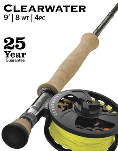 <strong>3¾ oz. 9', 4-piece, Fly Rod for 8-wt. line.</strong>  <p>If you had to buy one highly capable, yet extremely affordable, big-game rod to cover saltwater, salmon, and steelhead, the Clearwater 908-4 would be your best bet. Strong and responsive, and created with both fresh- and saltwater anglers in mind, it is adaptable to any number of situations, from snook and redfish to largemouth and coho. With a reasonable price, and a performance equal to that of rods twice as much, the Cl...