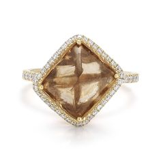 "A 7.68 carat natural rough diamond ring from the ""Covet"" collection by Diamond in the Rough"