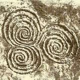 Spirals of Life found carved in rock near Rosslyn Chapel. c. 5,000 B.C.E., The spiral was a sacred symbol to the Celtic peoples. It demonstrated the eternal rhythm of life of which we are all a part. This ancient design adorning their most sacred places represents the trinity of life in its many forms, such as body, mind and spirit. ॐ}*{ॐ