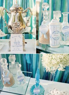 Blue Cocoa Bar - Perfect for a Winter Wedding